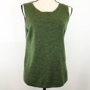 Eileen Fisher Green Merino Wool Tank Petite M